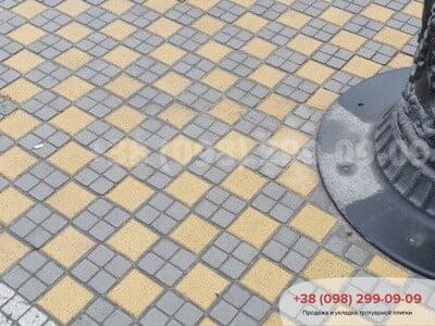 Тротуарная плитка Шашка Белаяфото 9