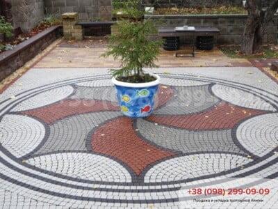 Тротуарная плитка Шашка Чернаяфото 2