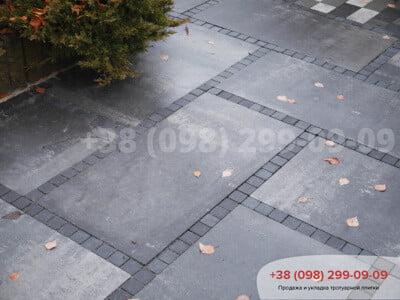 Тротуарная плитка Шашка Чернаяфото 6