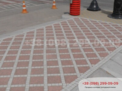 Тротуарная плитка Шашка Сераяфото 3