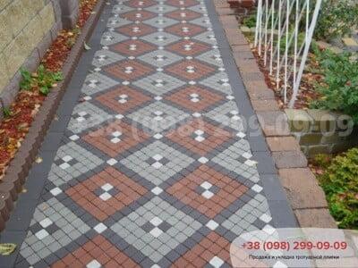 Тротуарная плитка Шашка Сераяфото 4