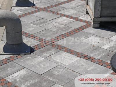 Тротуарная плитка Шашка Сераяфото 6