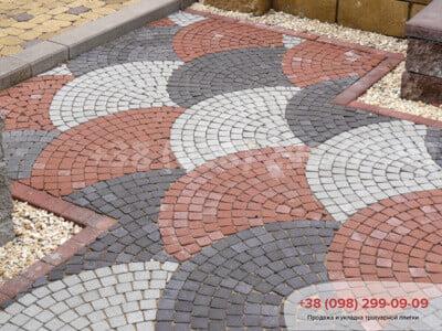 Тротуарная плитка Шашка Сераяфото 8