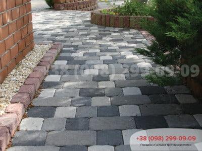 Тротуарная плитка Старая Площадь чернаяфото 3