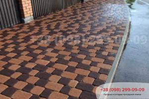 Коричневый Тротуарная плитка Старая площадь Коричневая