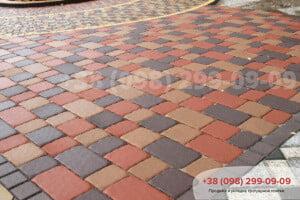 Красный Тротуарная плитка Старая Площадь Красная