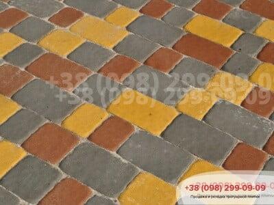 Тротуарная плитка Старая Площадь Желтаяфото 2