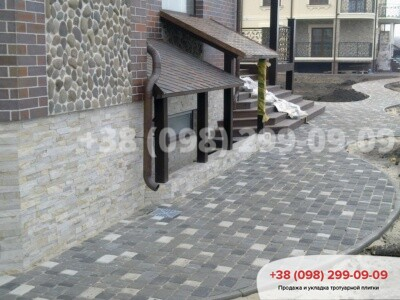 Тротуарная плитка Старый Город Белыйфото 4