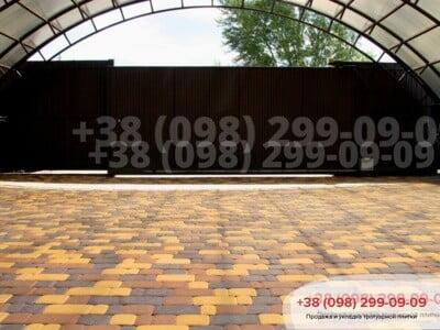 Тротуарная плитка Старый город Коричневаяфото 23