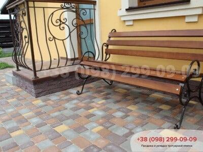 Тротуарная плитка Старый город Коричневаяфото 24