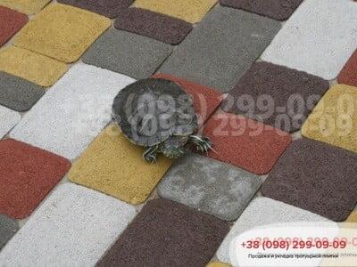Тротуарная плитка Старый город Коричневаяфото 10