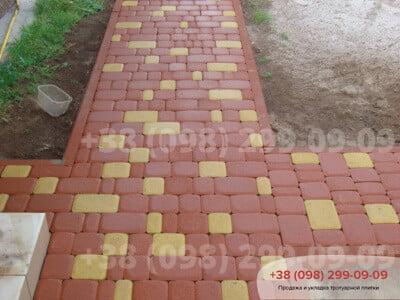 Тротуарная плитка Старый Город Красныйфото 1
