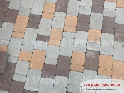 Тротуарная плитка Старый Город Персиковаяфото 2
