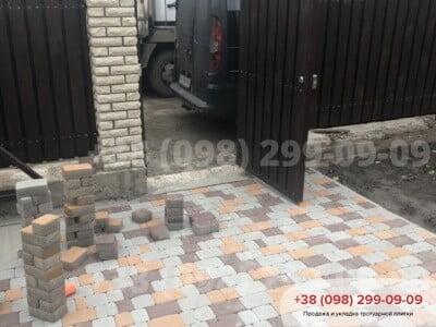 Тротуарная плитка Старый Город Персиковаяфото 4