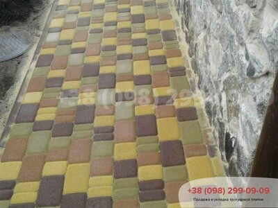 Тротуарная плитка Старый Город Персиковаяфото 8