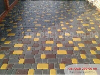 Тротуарная плитка Старый Город Желтаяфото 14