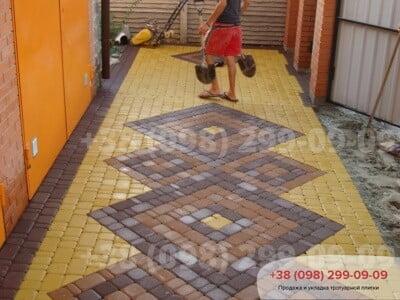 Тротуарная плитка Старый Город Желтаяфото 4