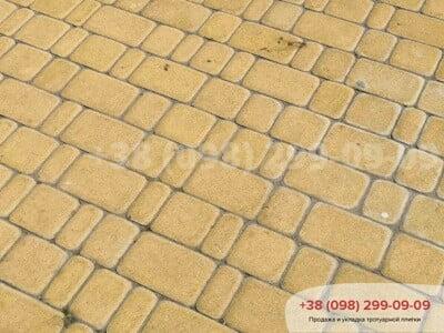 Тротуарная плитка Старый Город Желтаяфото 9