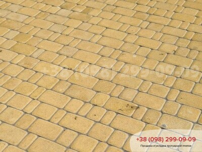 Тротуарная плитка Старый Город Желтаяфото 10